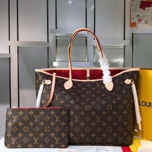 Louis Vuitton neverfull monogram tote bag